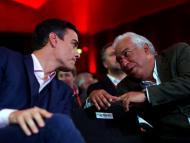Pedro Sánchez y António Costa, líderes socialistas de España y Portugal respectivamente.