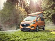 Ford built a Transit van called Nugget that doubles as a tiny home that can sleep up to 4 people