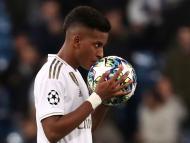 Rodrygo, durante un partido de la Champions League con el Real Madrid