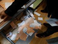 Una urna con votos en las elecciones generales del 10 de noviembre de 2019.
