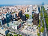 Zona de negocios de Madrid.