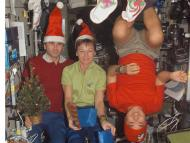 Christmas on the ISS can get pretty festive — especially in zero gravity.