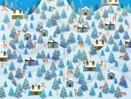 An elf fell off Santa's sleigh.