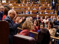 Meritxel Batet, en el momento de su proclamación como presidenta del Congreso de los Diputados.
