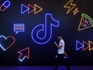 Un mural sobre la app TikTok