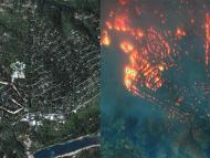 Paradise, California, before and after the deadly Camp Fire.