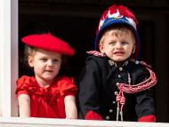Prince Jacques and Princess Gabriella of Monaco on National Day.