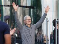 Tim Cook en la Apple Store de la Quinta Avenida de Nueva York