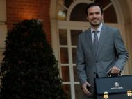 Alberto Garzón se estrena en el Consejo de Ministros como titular de la cartera de Consumo.