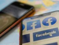 Facebook logos are seen on a mobile phone in this picture illustration taken December 2, 2019.