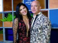 Jeff Bezos and his girlfriend Lauren Sanchez seen January 16.