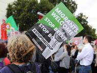 Manifestantes contra el Brexit y a favor de los derechos de los inmigrantes en Londres