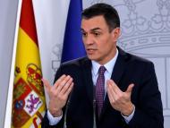 Pedro Sánchez en una rueda de prensa en La Moncloa