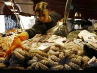 pescadería, pulpo, pescadero