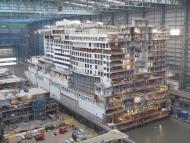 El AIDAnova en pleno proceso de construcción