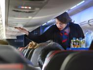 """Cut us some slack,"" a United flight attendant said."