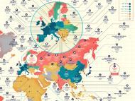 Mapa de las empresas más antiguas