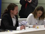 Pablo Iglesias y Yolanda Díaz.