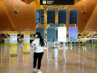 El aeropuerto de Barajas, vacío por la pandemia del coronavirus