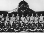 """Portrait of legendary Lost Squadron & plane """"Flight 19"""" that supposedly vanished into Bermuda Triangle shortly after WWII."""