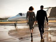 While commercial airlines suffer, the private jet business is booming.