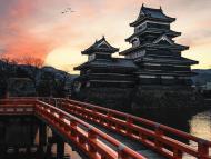 """""""Castillo de Matsumoto en la tierra del sol naciente"""", fotografiado por Jan Meyer."""