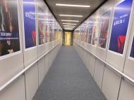 An empty jet bridge at MSP Airport Friday, April 3, 2020.