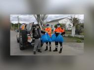 Protección civil recoge mascarillas