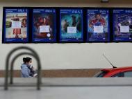 Sala de cine cerrada por coronavirus