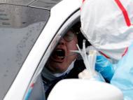 Uno de los test rápidos que se realizan en Corea del Sur sin bajarse del coche