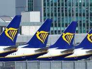 Aviones de Ryanair en Dublín