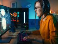 Una gamer haciendo streaming.