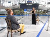 A one-on-one concert at Stuttgart Airport.