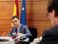 Pedro Sánchez, en el Consejo de Ministros del 19 de mayo de 2020.