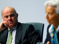 El vicepresidente del BCE, Luis de Guindos, y la presidenta de la institución, Christine Lagarde
