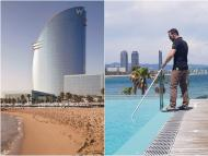 Daniel Ordóñez has been the only person living in the W Barcelona for three months.