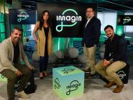 David Urbano, Chief Marketing Officer de Imagin, Anna Canela, responsable de Engagement, Benjamí Puigdevall, consejero delegado, y David Arranz, Chief Product Officer.
