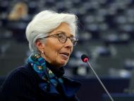 European Central Bank President Lagarde addresses the European Parliament in Strasbourg