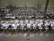 Una fábrica textil en Vietnam