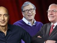 Gente rica: Jeff Bezos, Bill Gates y Warren Buffet