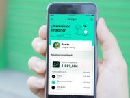 Imagen de la aplicación de imaginBank en un teléfono móvil