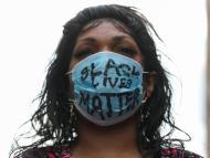 Una manifestante durante las protestas del movimiento 'Black lives matter' en Nueva York