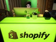 Un trabajador de Shopify.