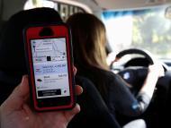 Una conductora de Uber