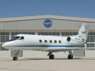 A NASA Gulfstream jet.