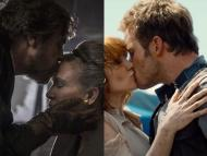"Two major kisses in ""Star Wars: The Last Jedi"" and ""Jurassic World"" were unscripted."