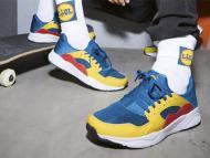 Zapatillas y calcetines de la nueva línea de moda de Lidl.