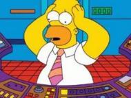 Homer Simpson en su trabajo en la planta nuclear de Springfield.