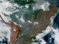 Incendios del Amazonas en 2019 fotografiados desde un satélite.
