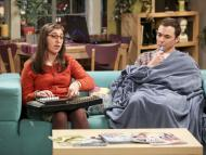 Mayim Bialik, como Amy Farrah Fowler, y Jim Parsons, como Sheldon Cooper, en The Big Bang Theory.
